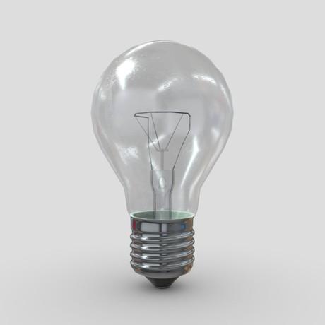 Light Bulb 3 - low poly PBR 3d model