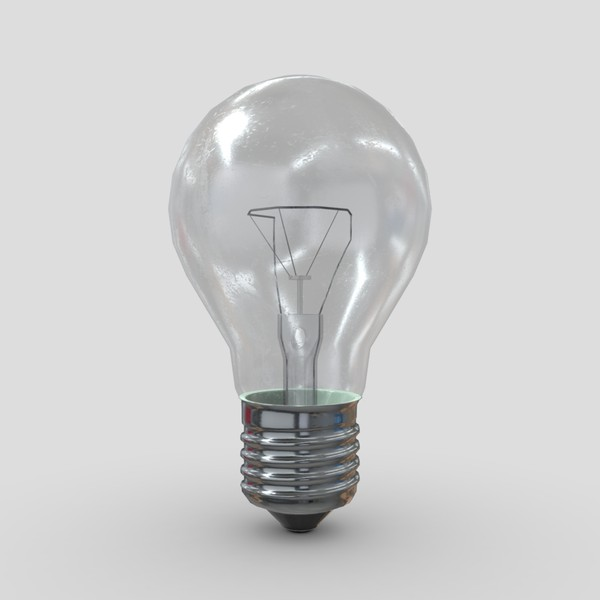 Light Bulb 3 - low poly PBR 3d model