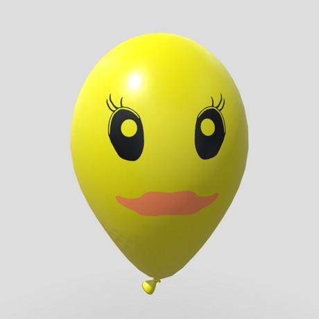 Balloon 2 - low poly PBR 3d model