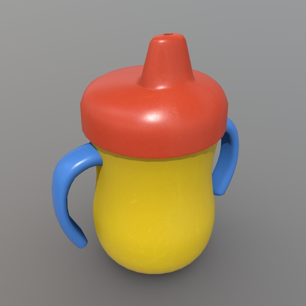 Sippy Cup - low poly PBR 3d model
