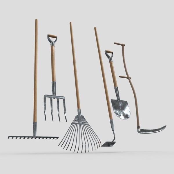 Gardening Tools Pack - low poly PBR 3d model