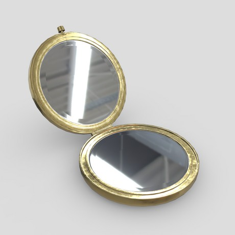 Cosmetic Mirror 2 - low poly PBR 3d model