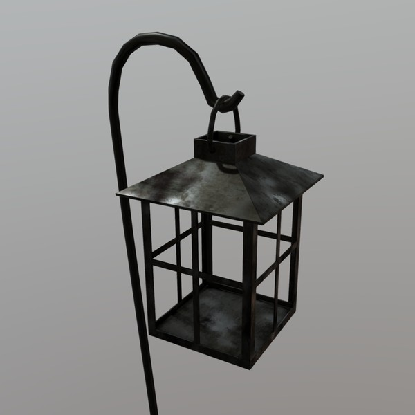 Lantern - low poly PBR 3d model