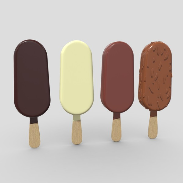 Popsicle Pack - low poly PBR 3d model