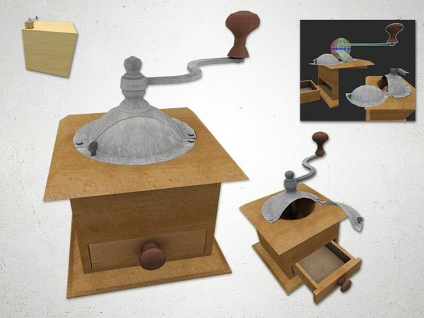 Coffee Grinder - 3D Model