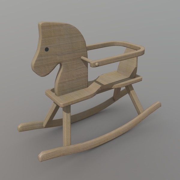 Rocking Horse - low poly PBR 3d model