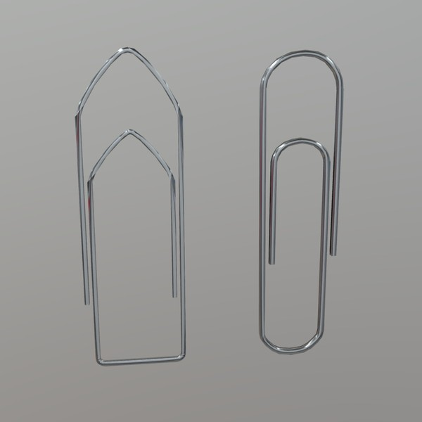 Paper Clip - low poly PBR 3d model
