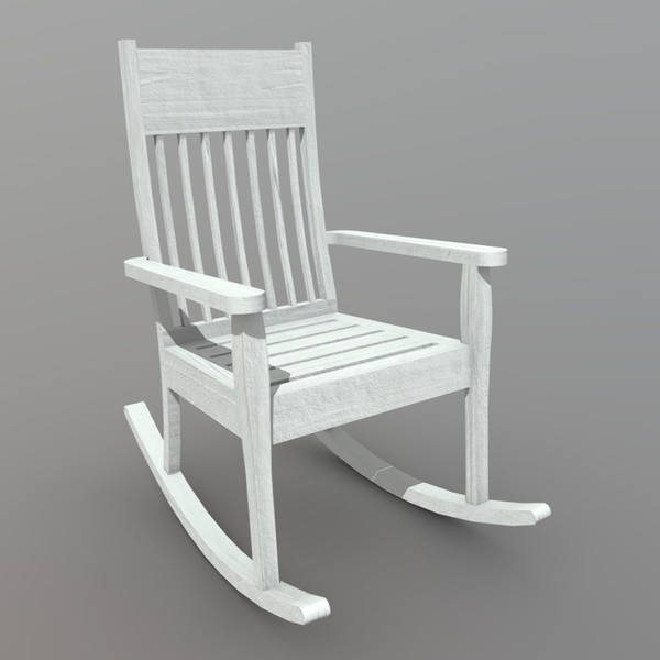 Rocking Chair 1 - low poly PBR 3d model