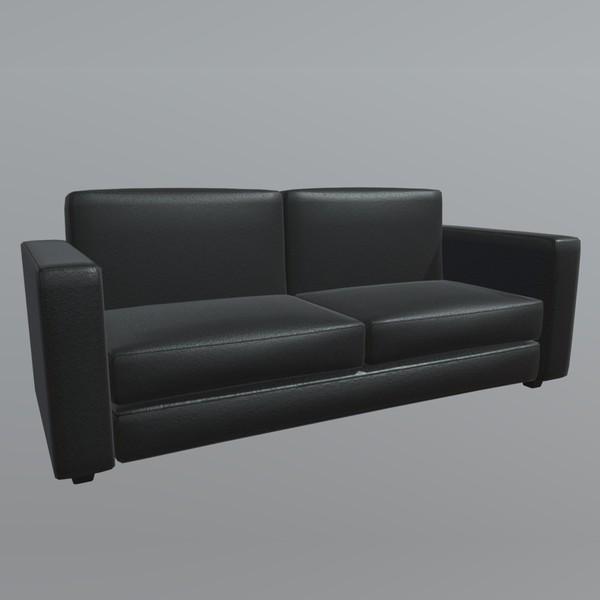 Sofa 2 - PBR 3d model