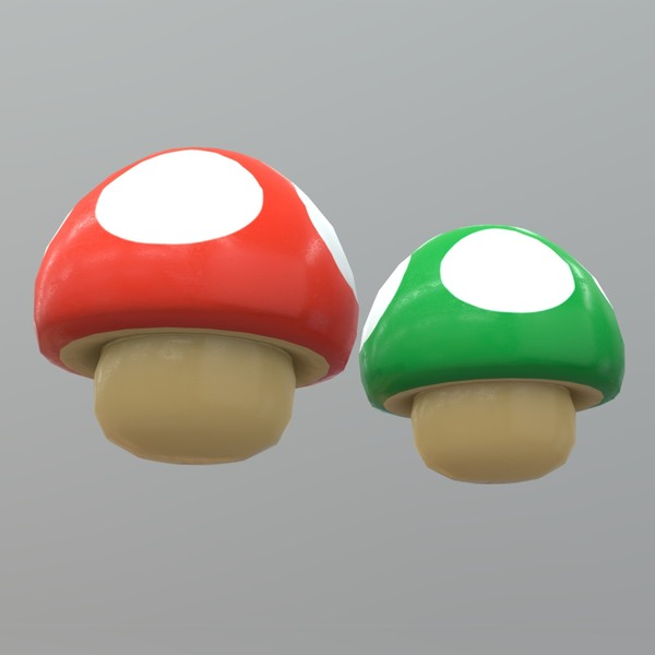 Mushroom - low poly PBR 3d model