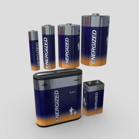 Battery Pack - low poly PBR 3d model
