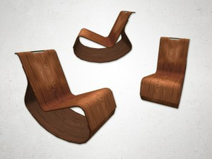 Rocking Chair 2 - 3D Model