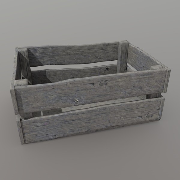 Crate 5 - low poly PBR 3d model