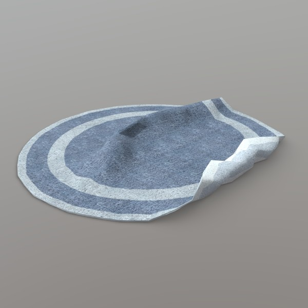Rug 2 - low poly PBR 3d model