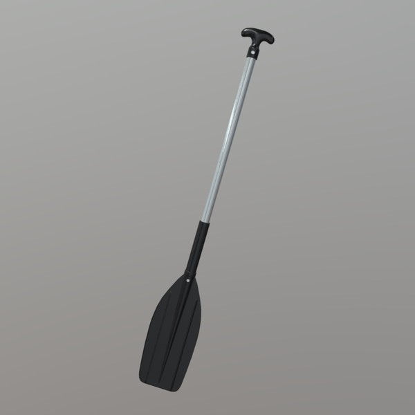 Paddle 2 - low poly PBR 3d model