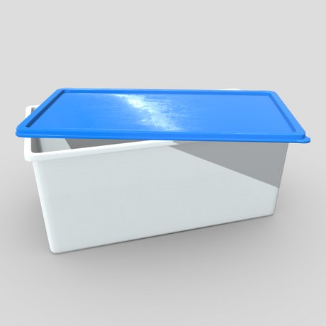 Food Container 3 - low poly PBR 3d model