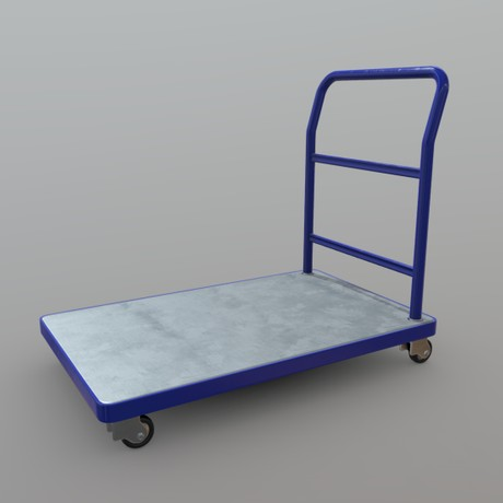 Platform Truck - low poly PBR 3d model