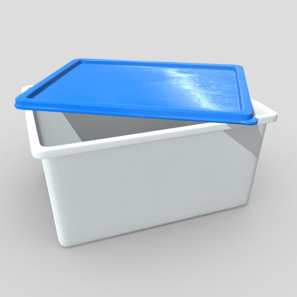 Food Container 2 - low poly PBR 3d model