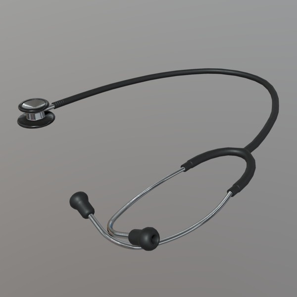 Stethoscope - low poly PBR 3d model