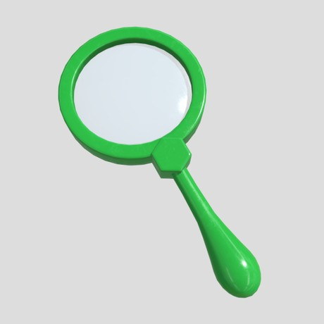 Magnifying Glass 4 - low poly PBR 3d model
