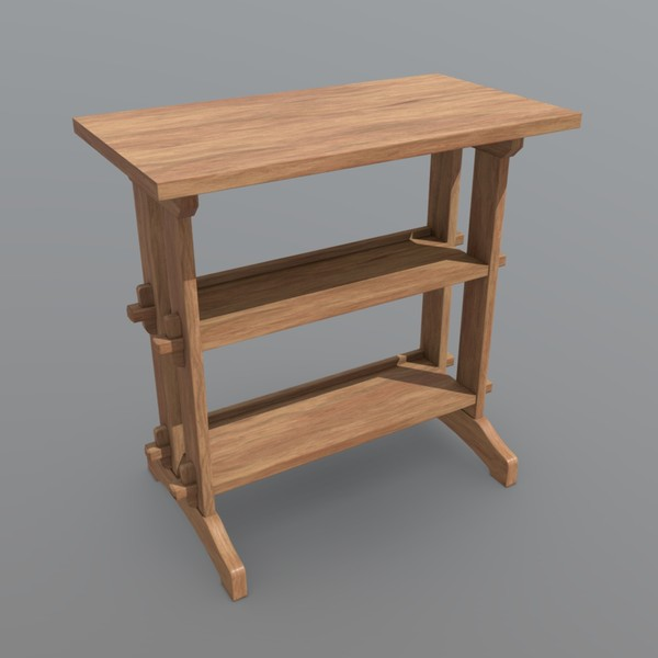Shelf - low poly PBR 3d model