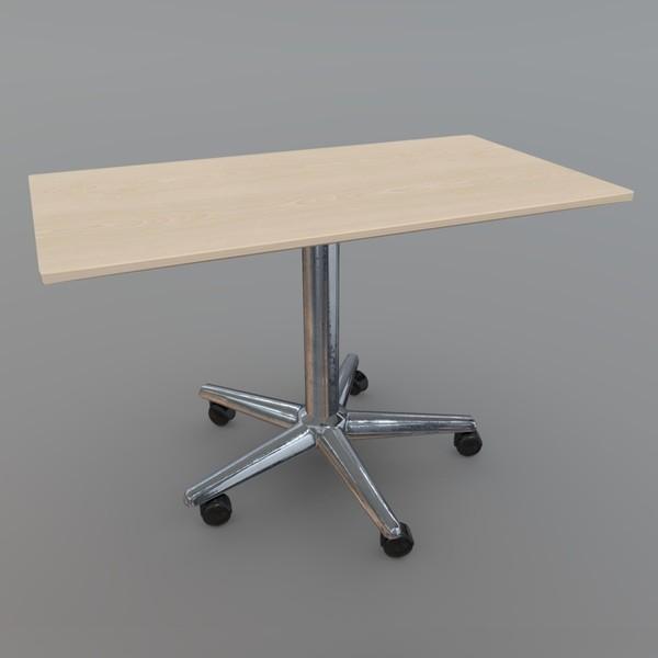Table 3 - low poly PBR 3d model