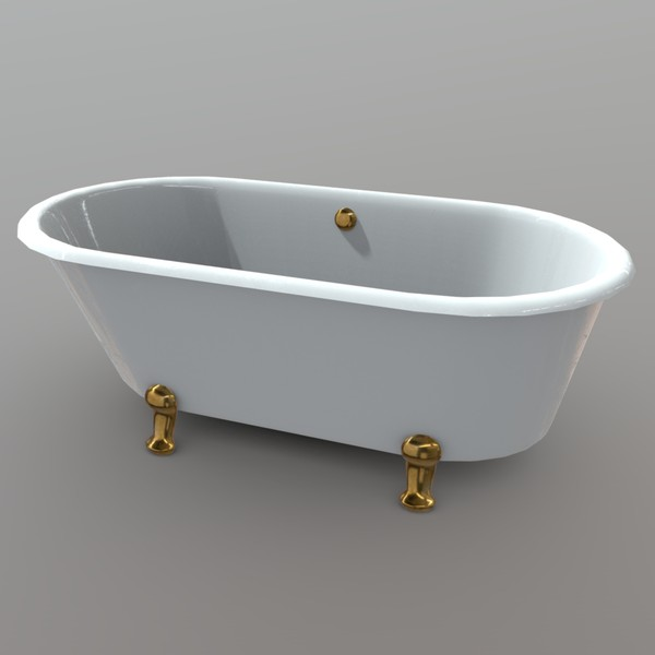Bathtube - low poly PBR 3d model