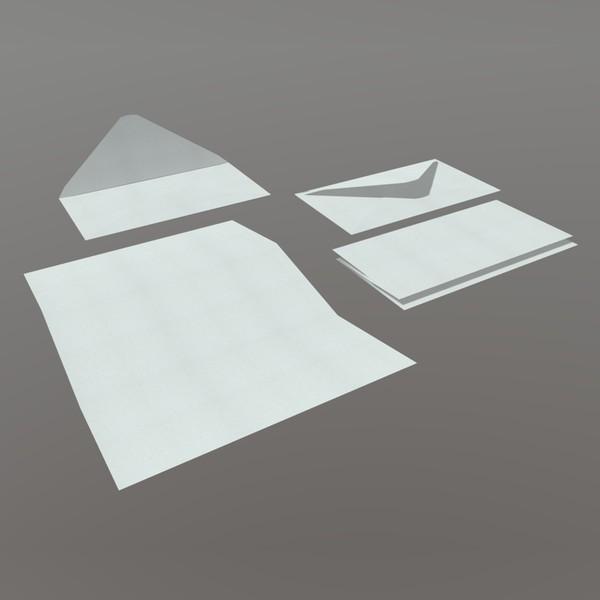 Envelope Pack - low poly PBR 3dmodel