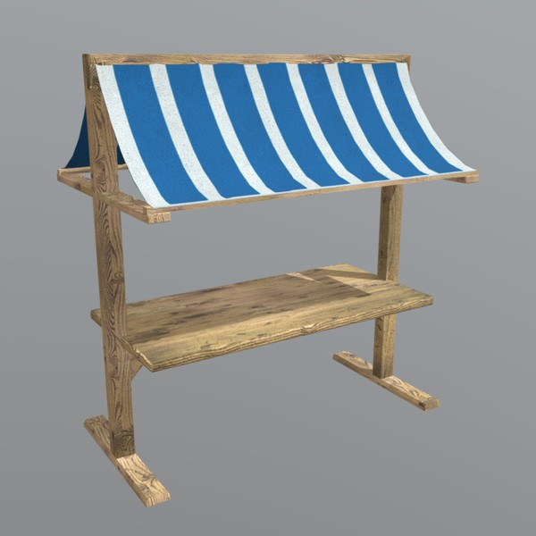 Booth - low poly PBR 3d model