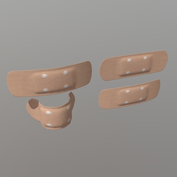 Sticking Plaster - low poly PBR 3d model