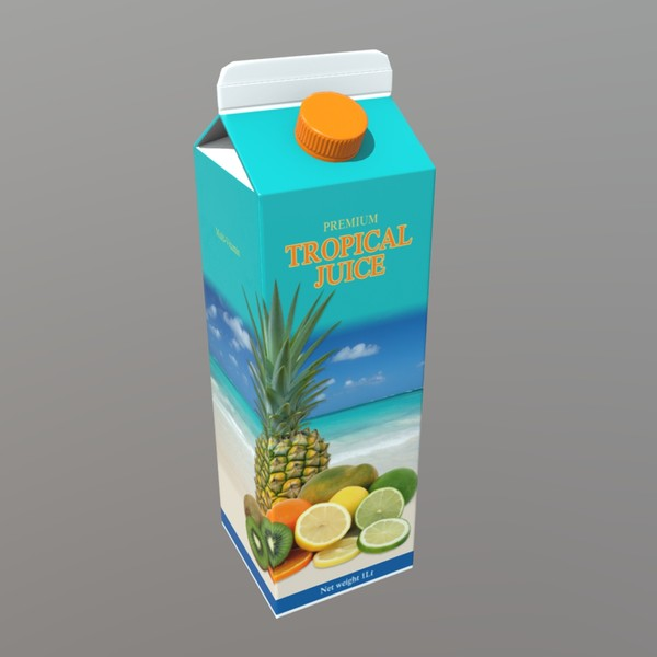 Tropical Juice - low poly PBR 3d model