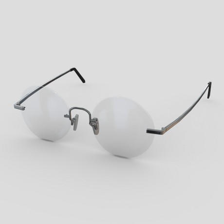 Glasses 7 - low poly PBR 3d model