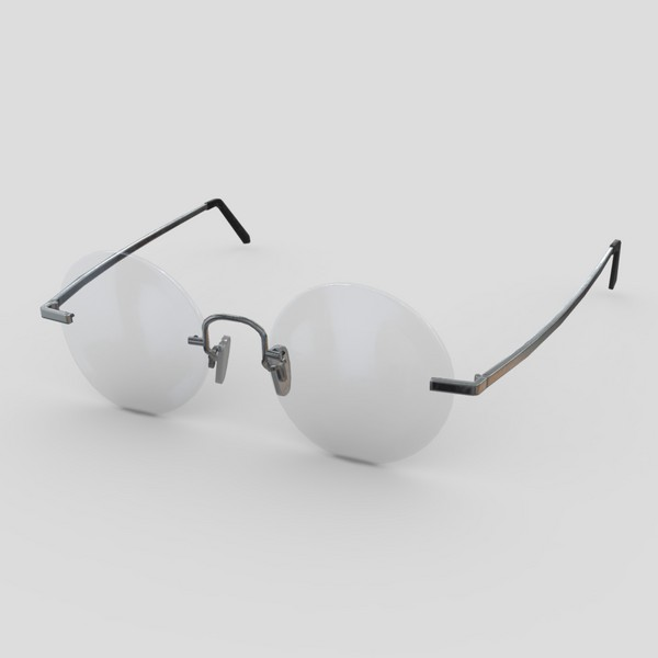 Glasses 7 - low poly PBR 3d model