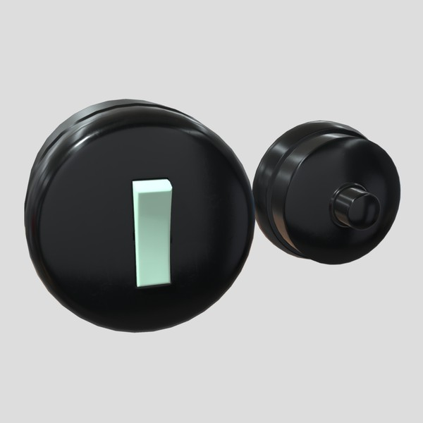 Switch and Bell - low poly PBR 3d model