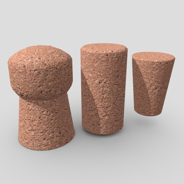 Cork Pack - low poly PBR 3d model