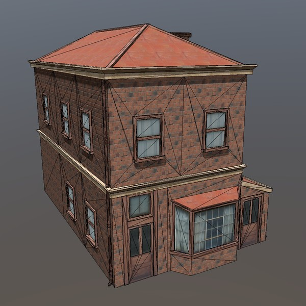 House (old) - PBR 3D Model