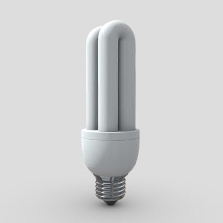 Light Bulb 2 - low poly PBR 3d model