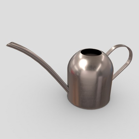 Watering Can - low poly PBR 3d model