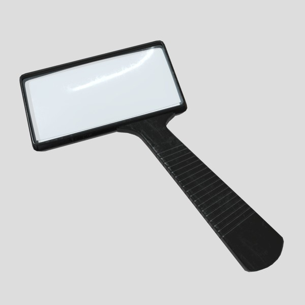 Magnifying Glass 2 - low poly PBR 3d model