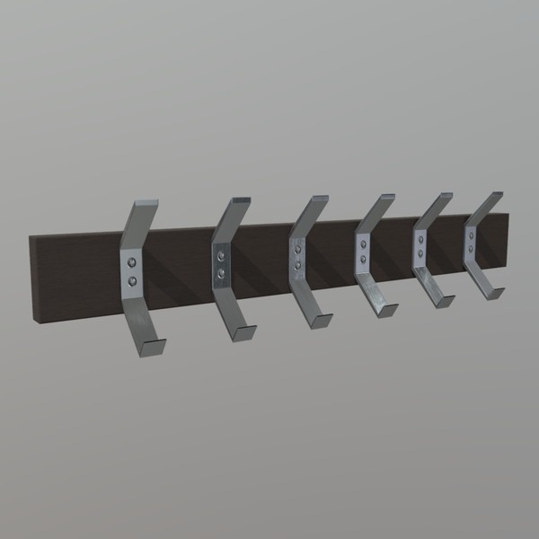 Coat Rack - low poly PBR 3d model