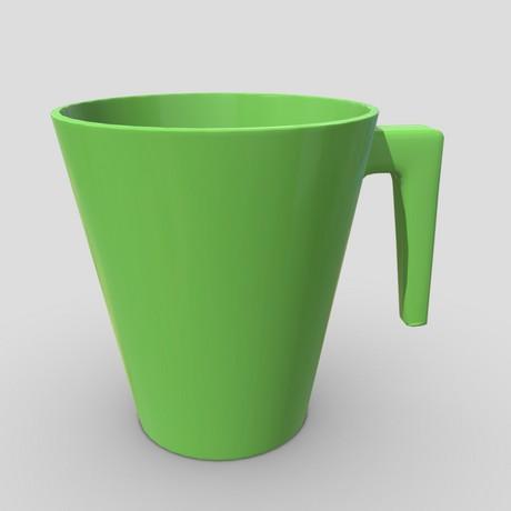 Mug 5 - low poly PBR 3d model