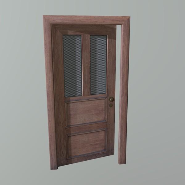Door (old R) - PBR 3D Model