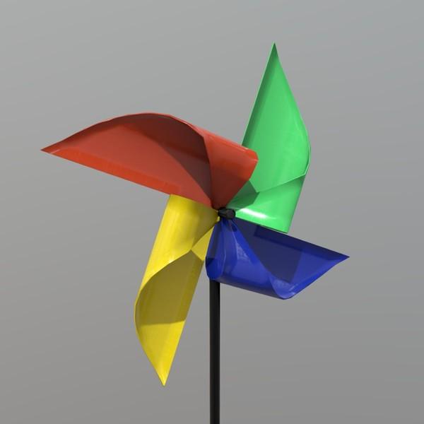 Pinwheel - low poly PBR 3d model