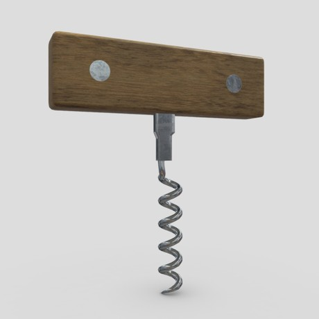 Corkscrew 3 - low poly PBR 3d model
