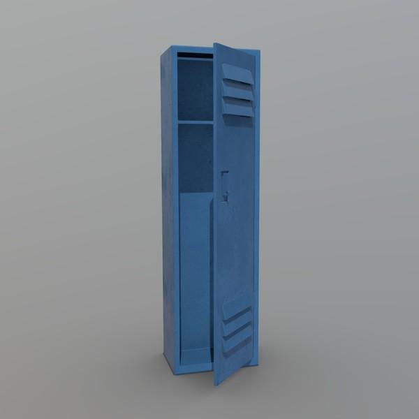 Locker - low poly PBR 3d model