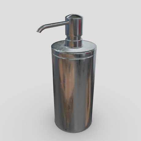 Soap Dispenser 2 - low poly PBR 3d model