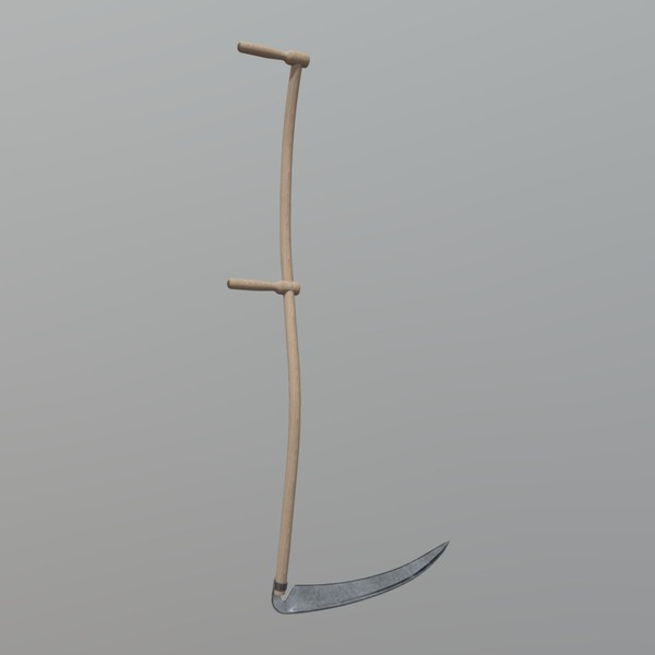 Scythe - low poly PBR 3d model