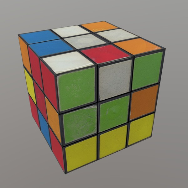 Magic Cube - low poly PBR 3d model