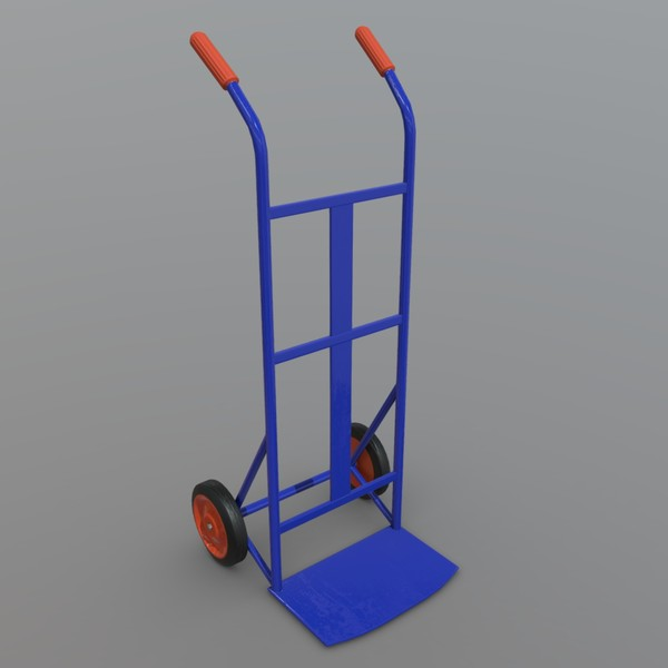 Sack Truck - low poly PBR 3d model