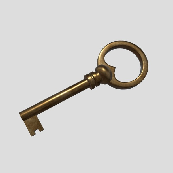 Key - low poly PBR 3d model